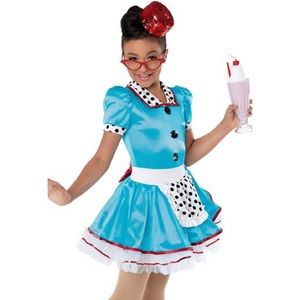 Girls Weissman Waitress Dance Costume Size M 10/12